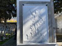 Sala Consilina: un'opera in marmo raffigurante San Michele a protezione del Cimitero cittadino