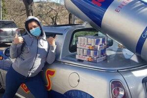 Red Bull dona bevande energizzanti ai volontari del Comitato Melandro della Croce Rossa a Vietri di Potenza