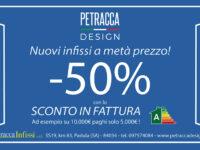 """Nuovi infissi a metà prezzo con lo """"sconto in fattura"""" da Petracca Design a Padula"""