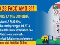 """Fatto 28 facciamo 31! La campagna dell'associazione """"La Panchina"""" di Albanella per donare defibrillatori"""
