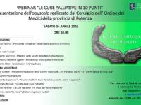 """L'Ordine dei Medici della provincia di Potenza presenta l'opuscolo """"Le cure palliative in 10 punti"""""""