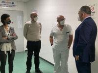 Ospedale di Polla. L'Amministrazione comunale accoglie il dottor Patrone, nuovo medico di Chirurgia