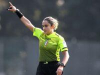 """Maria Marotta, arbitro della Sezione AIA di Sapri, dirige la """"Partita del Cuore"""" all'Allianz Stadium di Torino"""