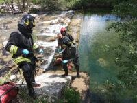 Carcassa di vitello nel fiume Calore tra Sassano e Padula. Vigili del Fuoco intervengono per la rimozione