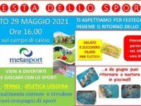 Il 29 maggio giochi e tanto divertimento alla Festa dello Sport della Metasport di San Rufo