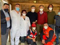 """Il consigliere regionale Pellegrino visita il centro vaccinale di Roccadaspide. """"Un supporto prezioso"""""""