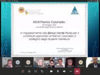 """XXVII Premio """"Eduardo R. Caianiello"""". Assegnati i premi messi a disposizione dalla Banca Monte Pruno"""