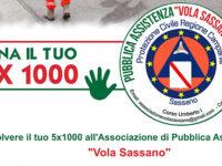 """Dona il tuo 5 x mille all'Associazione di Pubblica Assistenza """"Vola Sassano"""""""