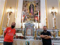In pellegrinaggio da Milazzo a Padova sulle orme di Sant'Antonio. Il pellegrino Giorgio arriva a Montesano sulla Marcellana