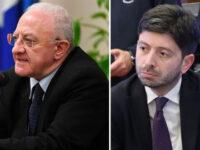"""Vaccini in Campania. Speranza gela De Luca: """"Nostre indicazioni perentorie, le Regioni si devono allineare"""""""