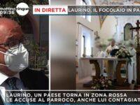 """Covid a Laurino, arrivano le telecamere di """"Mattino 5"""". Cecchi Paone attacca il parroco accusato del focolaio"""