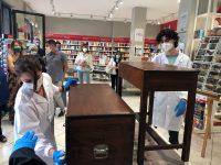 Straordinaria performance degli studenti del Liceo Artistico di Teggiano in un'estemporanea di restauro