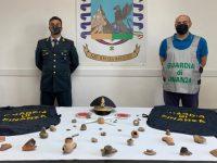 Agropoli: sequestrati dalla Guardia di Finanza importanti reperti archeologici detenuti illegalmente da un ente no profit
