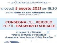 """Domani a Pontecagnano consegna di un veicolo sociale all'associazione """"Chiara Paradiso"""""""