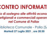 Polla: il 27 luglio incontro informativo sul Fondo di sostegno alle attività economiche, artigianali e commerciali