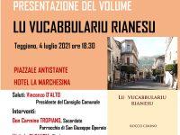 """Teggiano: domani la presentazione del libro """"Lu vucabbulariu rianesu"""" del professore Rocco Cimino"""