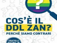 """Fratelli d'Italia a Salerno contro il ddl Zan. """"Ecco il perché del nostro fermo no"""""""