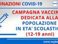 Vaccini alla popolazione studentesca del Potentino. Al via la campagna 12-19 anni