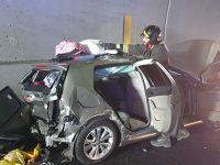 Incidente sull'A2 tra Padula e Lagonegro. Quattro auto coinvolte, tre persone in ospedale