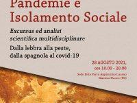 """Domani a Marsico Nuovo un convegno sulle """"Pandemie e Isolamento Sociale"""""""