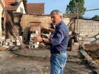"""Sassano: Pellegrino visita azienda agricola distrutta da un incendio. """"La Regione aiuti nella ricostruzione"""""""