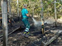 Monte San Giacomo: fiamme prendono di mira vigne ed ulivi. Sindaco, cittadini e operai AIB in azione