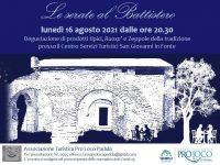 """La Pro Loco di Padula presenta """"Le serate al Battistero"""". Appuntamento il 16 agosto"""