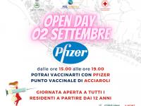 Domani Open Day con Pfizer al punto vaccinale di Acciaroli