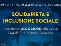 """Domani a Scario l'incontro """"Solidarietà e Inclusione Sociale"""" sulla figura di Aldo Moro"""