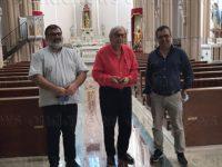 Il critico d'arte Vittorio Sgarbi in visita nel centro storico di Montesano sulla Marcellana