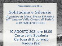 """Padula: questa sera presentazione del libro """"Solitudine e Silenzio"""" di Raffaele Vertucci"""