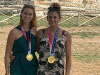 Le campionesse olimpiche Valentina Rodini e Federica Cesarini in visita ai templi di Paestum