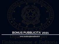 Bonus pubblicità 2021: credito d'imposta al 50%, proroga delle domande – a cura dello Studio Viglione Libretti