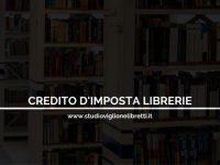 Credito d'imposta a favore delle librerie – a cura dello Studio Viglione Libretti