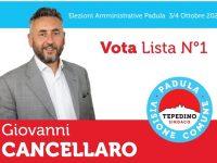 """Elezioni Padula. Intervista a Giovanni Cancellaro: """"Ecco perchè mi sono candidato"""""""