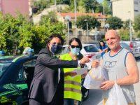 Aiutare il prossimo. La Guardia Nazionale Ambientale dona pacchi alimentari alla periferia di Salerno