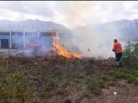 Incendio nelle campagne di Atena Lucana. Le fiamme minacciano alcune abitazioni