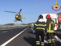 Incidente in A2 all'altezza di Lauria. Un ferito trasportato in elisoccorso