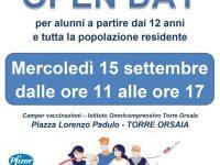 Torre Orsaia: domani un Open Day vaccinale per gli alunni dai 12 anni e tutti i residenti