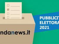 ELEZIONI 2021, PUBBLICITÀ ELETTORALE SU ONDANEWS