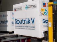 2/25/2021 - Republic of San Marino. Arrival of the Sputnik vaccine Editorial Usage Only (Photo by IPA/Sipa USA)No Use Germany.