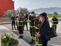 Vigili del Fuoco Sala Consilina. Il Direttore Regionale Franculli omaggia la stele in ricordo di Luigi Morello