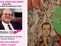 Teggiano: l'11 ottobre presentazione del libro sul Sen. Innamorato e docu-film sulla vita di Craxi