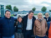 Il fondatore di Italia Viva Matteo Renzi in visita a Potenza e alla Ferrero di Balvano