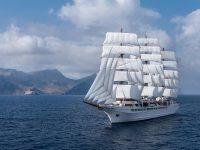 Approda a Salerno la Sea Cloud Spirit, uno dei velieri più grandi al mondo